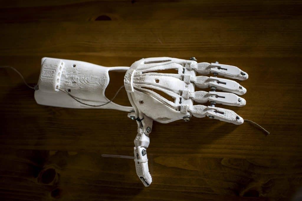 Model dłoni z drukarki 3D