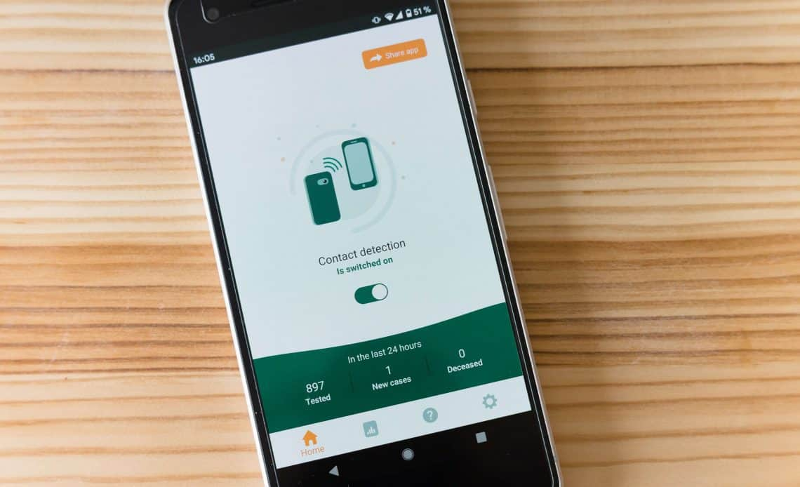 Ekran telefonu z aplikacją