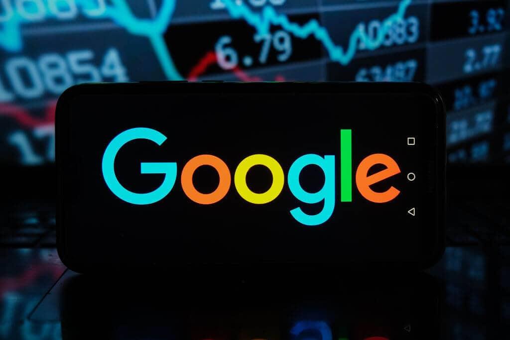 Podświetlone logo Google