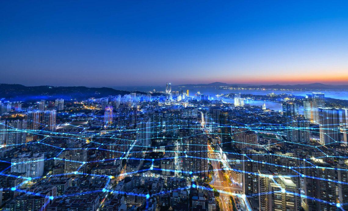 Panorama nowoczesnego miasta