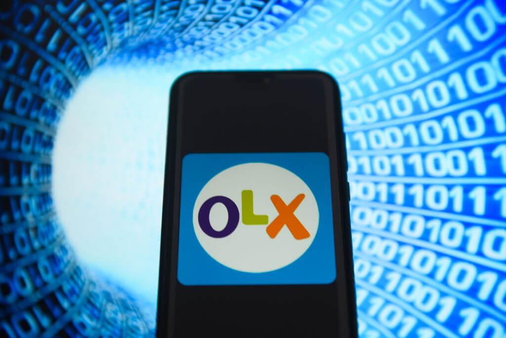 Logo portalu OLX na telefonie