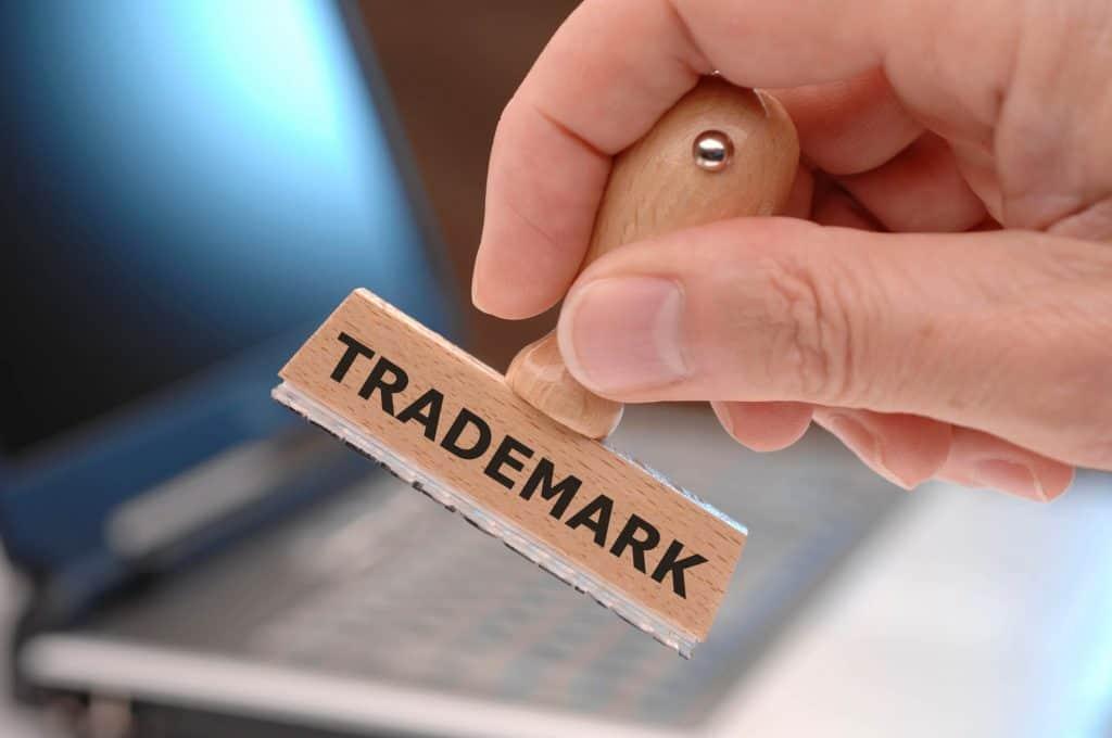 """Pieczątka z napisem """"trademark"""""""