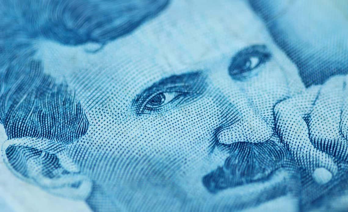 Nikola Tesla na serbskim banknocie